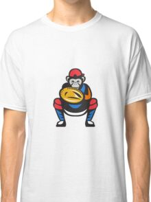 Chimpanzee Baseball Catcher Retro Classic T-Shirt