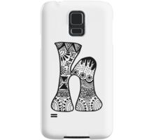 "Hipster Letter ""H"" Zentangle Samsung Galaxy Case/Skin"