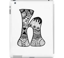 "Hipster Letter ""H"" Zentangle iPad Case/Skin"