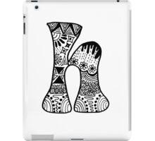 "Hipster Letter ""H"" Zentangle iPad Case/Skin"