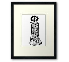 """Hipster Letter """"I"""" Zentangle Framed Print"""