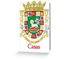 Casas Shield of Puerto Rico Greeting Card