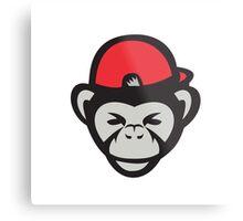 Chimpanzee Head Baseball Cap Retro Metal Print