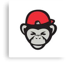 Chimpanzee Head Baseball Cap Retro Canvas Print