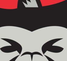 Chimpanzee Head Baseball Cap Retro Sticker