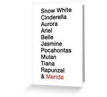Princess Names  Greeting Card