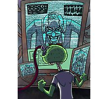 Mad Scientist Trapping Zomboy Photographic Print
