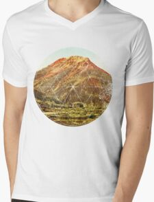 Circle Canyon  Mens V-Neck T-Shirt