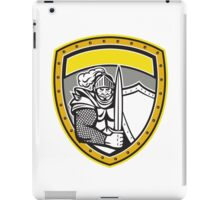 Knight Full Armor Open Visor Sword Shield Crest Retro iPad Case/Skin