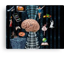 Brain games - War of Thought Canvas Print