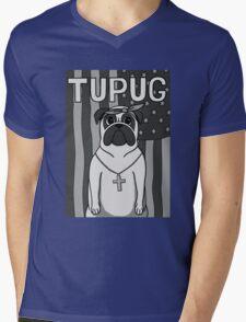 Tupug Shakur Mens V-Neck T-Shirt