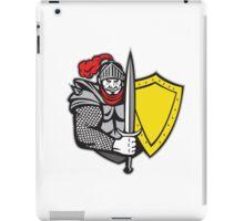 Knight Full Armor Open Visor Sword Shield Retro iPad Case/Skin