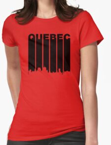 Retro Quebec Cityscape Womens Fitted T-Shirt