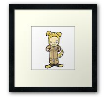 I'm a mog: half man, half dog. I'm my own best friend! Framed Print