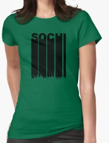 Retro Sochi Cityscape Womens Fitted T-Shirt