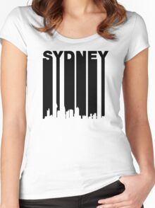 Retro Sydney Cityscape Women's Fitted Scoop T-Shirt