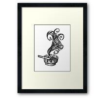 ashtray with smoke and newport Framed Print