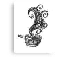 ashtray with smoke and newport Canvas Print