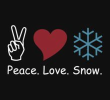 Peace Love Snow by 4getsundaydrvs