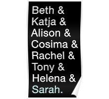 Orphan Black - Clone Names Poster