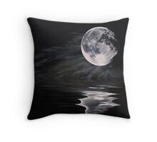 The fullest moon Throw Pillow