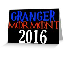 GRANGER MORMONT IN 2016 Greeting Card