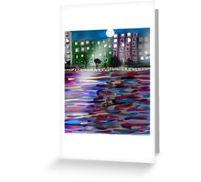 The East River by Roger Pickar, Goofy America Greeting Card
