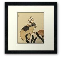 Arctic Lemming Meringue Framed Print