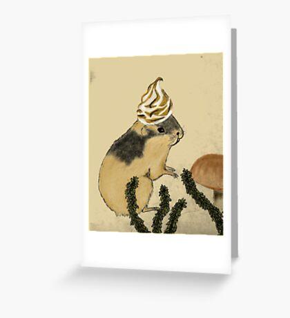 Arctic Lemming Meringue Greeting Card
