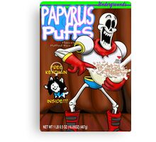 papyrus puffs Canvas Print