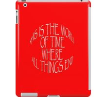 This is the World of Time iPad Case/Skin