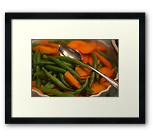 Carrots and Beans-for Thanksgiving Framed Print