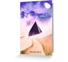 Polygon Dust Greeting Card