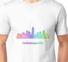 Rainbow Indianapolis skyline Unisex T-Shirt