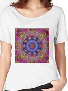 Funky Color Mandala Women's Relaxed Fit T-Shirt