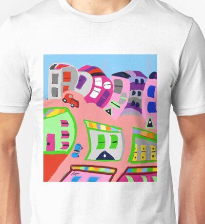 Happy Town by Roger Pickar, Goofy America Unisex T-Shirt