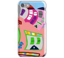 Happy Town by Roger Pickar, Goofy America iPhone Case/Skin