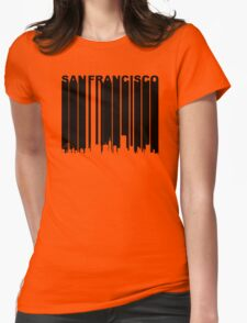 Retro San Francisco Cityscape Womens Fitted T-Shirt