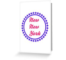 New New York  Greeting Card