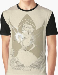 Fairy in brown sketch Graphic T-Shirt