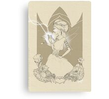 Fairy in brown sketch Canvas Print