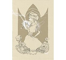 Fairy in brown sketch Photographic Print