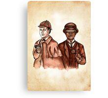 Data Holmes and Geordi Watson Canvas Print