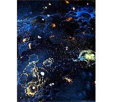 Abstract Fluid Acrylic Universe Painting HELIX Holly Anderson Contemporary Art Collective Photographic Print