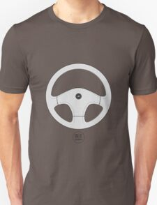 Nissan 300ZX Z32 Fairlady Steering Wheel (White) Unisex T-Shirt