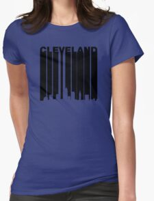 Retro Cleveland Cityscape Womens Fitted T-Shirt