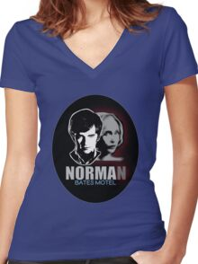 Norma-Norman 2 Bates Motel Women's Fitted V-Neck T-Shirt