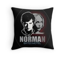 Norma-Norman 2 Bates Motel Throw Pillow