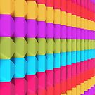 3D Colorful Geometric  by Kitty Bitty