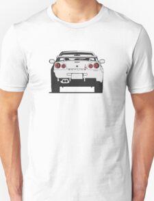 Nissan Skyline (R34) (rear) Unisex T-Shirt